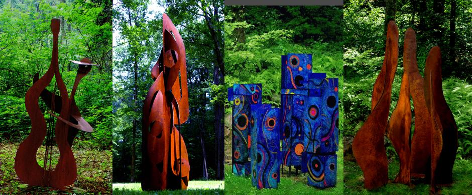 Metal Sculpture | Metal Art | Copper Fountains | Landscape Sculpture ...